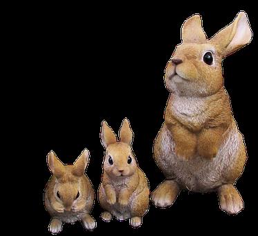 Rabbit, Statues, Cut, Out