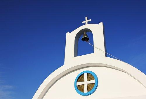 Greece, Chapel, Bell, White, Greek Island, Hellas