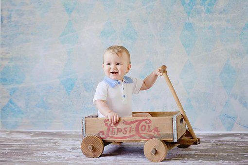 Wagon, Kid, Cute, Toy, Wheel, Sweet, Pull, Child, Boy