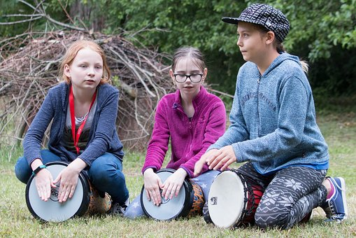 Drumming, Children, Drumming Children