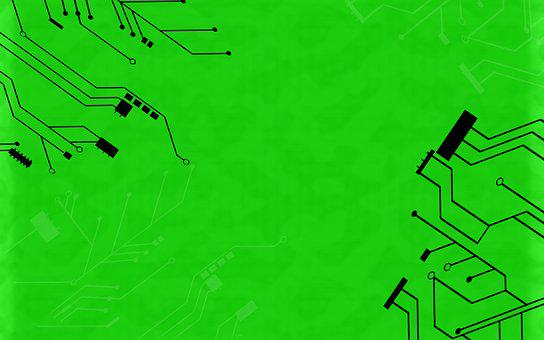 Green Background, Circuit, Computer, Internet