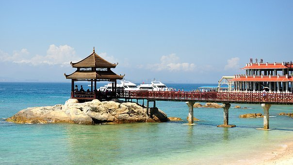 Covered Bridge, Beach, No One, Tourism, Travel