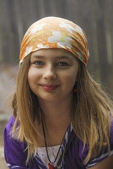 Girl, Headband, Portrait, Young, Adorable, Innocence