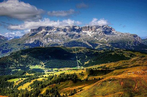 Dolomites, Sella, Italy, Mountains, South Tyrol, Alpine