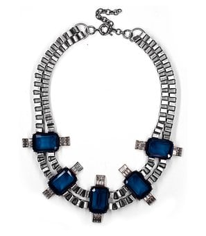 Necklace, Silver, Blue, Jewelry, Chain, Fashion, White