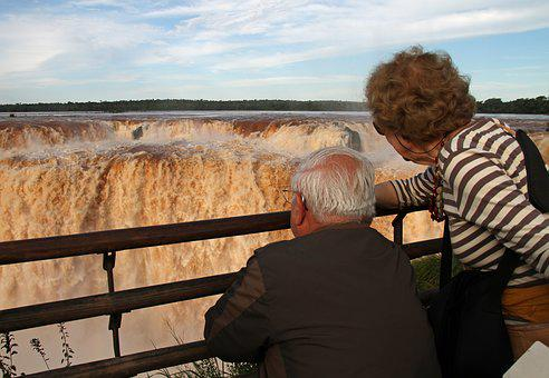 Old Couple, Enjoying, Happy, Woman, Man, Senior