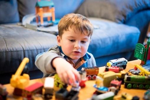 Thomas And Friends, Toy Train, Boy, Playing, Locomotive