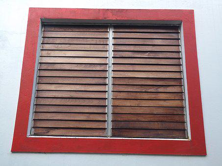 Window, Wall, Red, Wood, Construction, House, Exterior