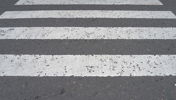 Black And White, Zebra Cross, Stripes, Road, Street