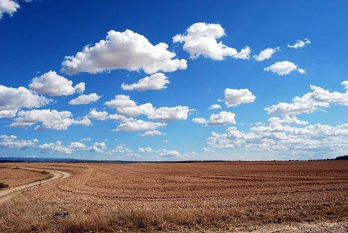 Field, Clouds, Sky, Earth, Horizon, Plowing, Cloudy