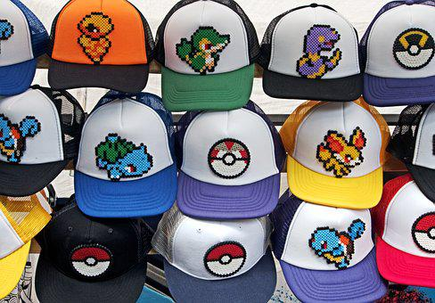 Pokemon, Hat, Go, Pokemon Go, Baseball, Colours, Colors