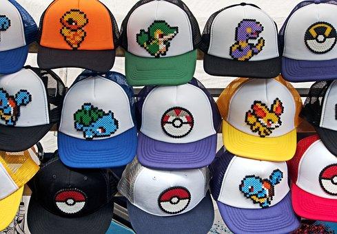 Pokemon, Hat, Go, Pokemon Go, Baseball, Colours, Colors