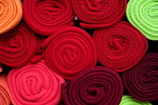 Fabric, Wool, Roll, Decoration, Goods, Sale, Display