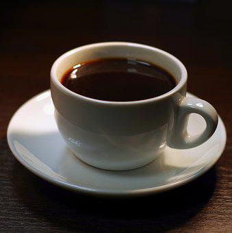 Coffee, Teacup, The Drink, White, Black, Brown