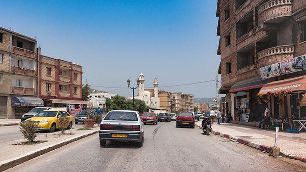 Bejaia, Algeria, City, Mediterranean, Road, People