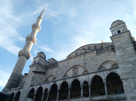 Blue Mosque, Istanbul, Turkish, Turkey, Architecture