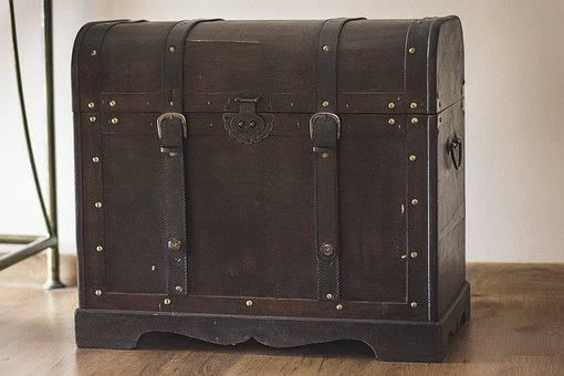 Transmission, Treasure, Pirate, Brown, Box, Casket