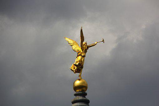 Angel, Spire, Church Dome, Church Roof, High, Roof