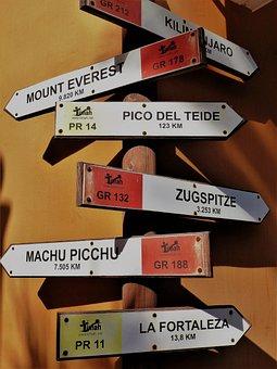 Hinweisschilder, Signs, Directory, Direction Indicator
