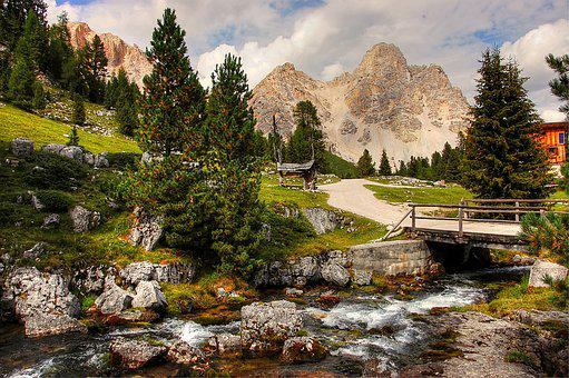 Dolomites, Fanes, Landscape, Mountains, Rock, Alpine