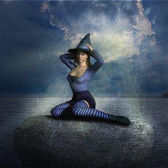 Woman, Magic, Mystical, Girl, Fantasy, Female, Gloomy