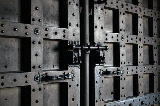 Door, Door Lock, Castle, Old Door, Metal, Fitting