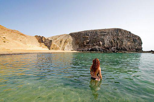 Playa Del Papagayo, Lanzarote, Canary Islands, Spain