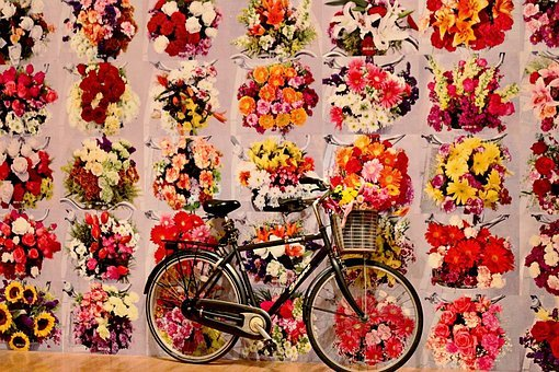 Andy Warhol, Art, Pop, Red, Yellow, Floral, Pattern