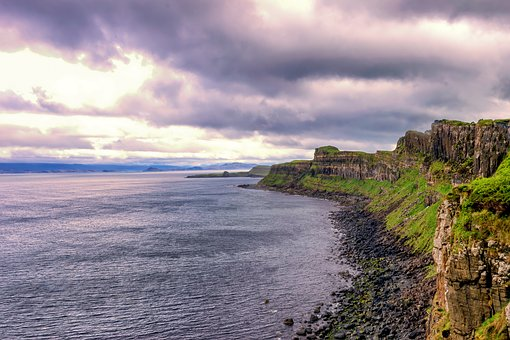 Coast, Rock, Cliff, Steinig, Sea, Water, Scotland
