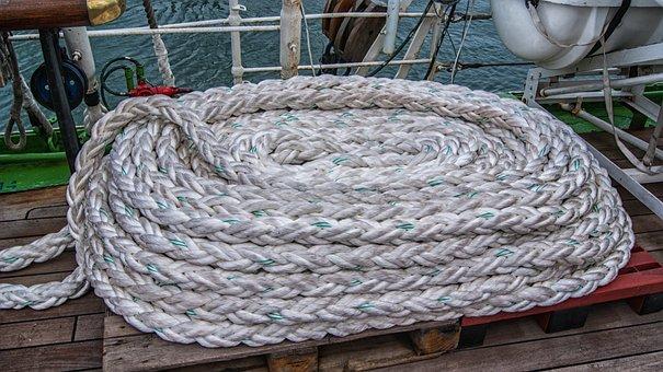 Rope, Deck, Ship, Sailing Boat, Cable, Sea, Boat, Cord