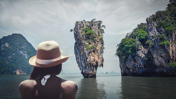 Thailand, Sea, Person, Sea view, An Island