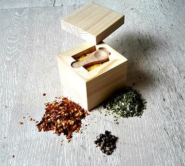 Wood, Box, Salt, Table, Gift, Decoration, Spices