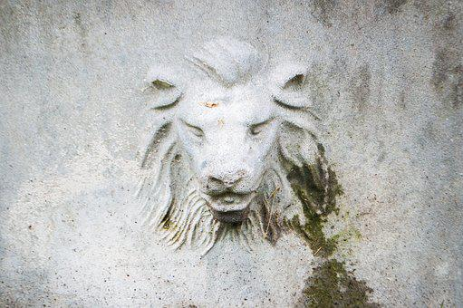 Lion, Building, Wall, City, Old, Old Building, Urban