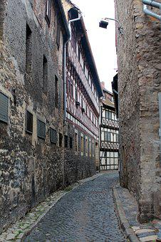 Alley, Wall, Wall Stone, Sand Stone, Truss, Old, Facade