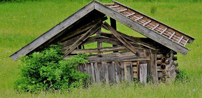 Heustadel, Scale, Barn, Log Cabin, Hut, Vacation