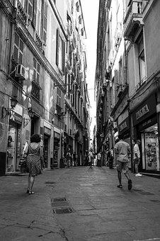 Road, Alley, Facade, Italy, Architecture, City, Away