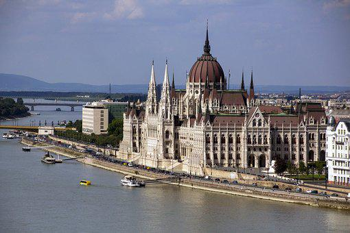 Hungary, Budapest, Parliament, Building, Architecture
