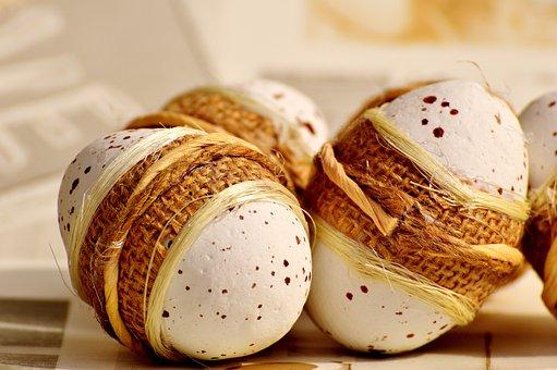 Egg, Polystyrene, Cord, Easter, Decoration