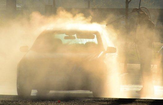 Car, Car Wash, Water, Critter, Light, Backlight