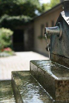 Fountain, Water, Garden, Park, Flow, Nature