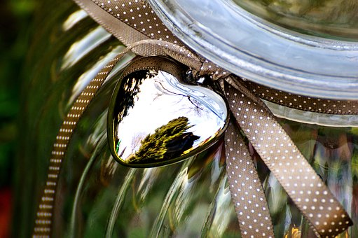 Glass, Candy-glass, Container, Storage, Loop, Heart