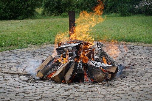 Campfire, Fire, Burn, Flame, Wood Fire, Hot