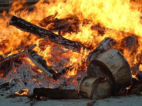 Fire, Wood, Winter, Campfire, Bonfire, Heat, Lena