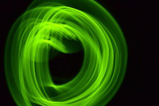 Green, Light, Blurry, Lights, Background, Lighting