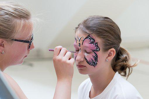 Face Painting, Girl, Make-up