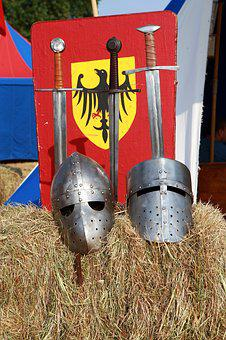 Middle Ages, Swords, Elmo, History, Battle, Knight