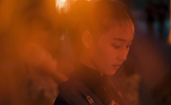 Night View, Portrait, Light