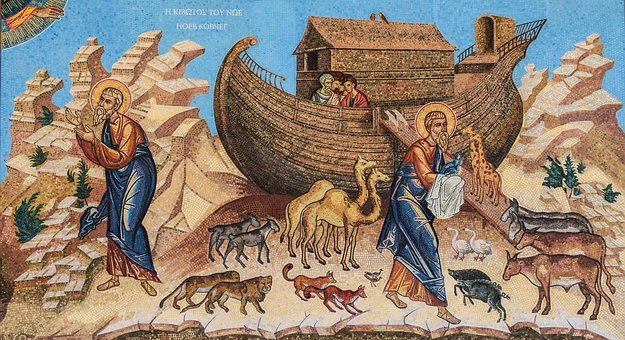 Noah's Ark, Mosaic, Iconography, Russian Church