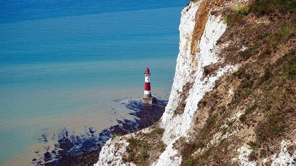 Sea, Lighthouse, Ocean, Landscape, Sky, Coastline