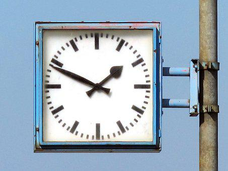 Clock, Station Clock, Clock Face, Railway Station, Old